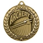 Wreath Award Medallion -Archery Wreath Medal Awards